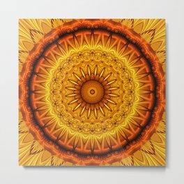 Mandala Clearness Metal Print