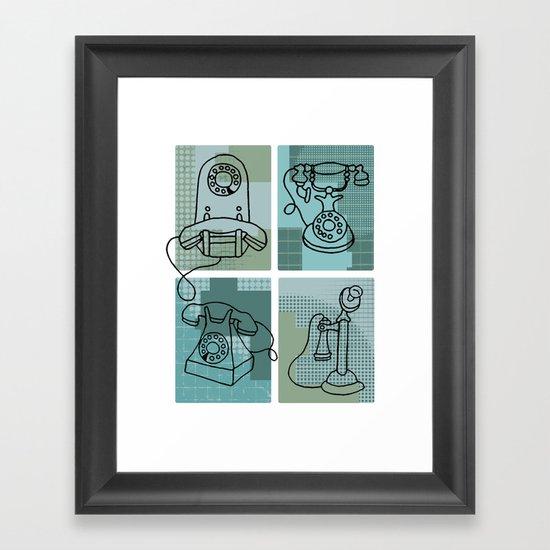 Phone Call Framed Art Print