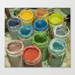 Paint Pots. Canvas Print