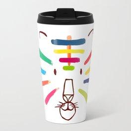 Tiger With Colorful Stripes Travel Mug