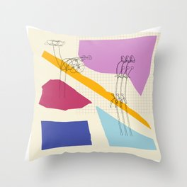 R10 Flowes by the Edge Throw Pillow