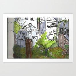 Rundown2 Art Print