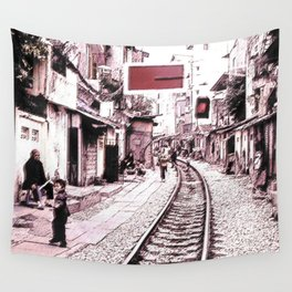 The train is coming soon.... Wall Tapestry