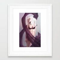 ampersand Framed Art Prints featuring Ampersand by Renee Chio