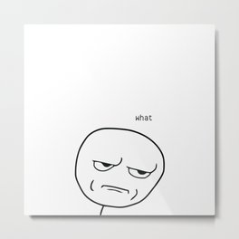 What Meme Metal Print