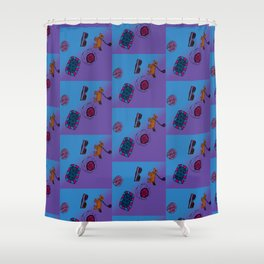 Kendall's Dog and Things Shower Curtain