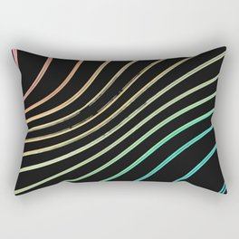 Color stroke arragement Rectangular Pillow