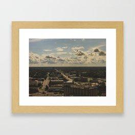 cloud cover Framed Art Print