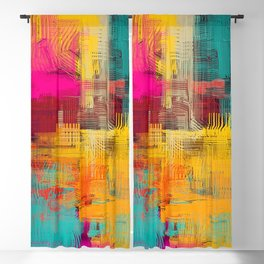 Abstract background texture. 2d illustration. Expressive handmade oil painting. Brushstrokes on canvas. Blackout Curtain
