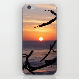 Sunset by the Lonely Cypress. iPhone Skin