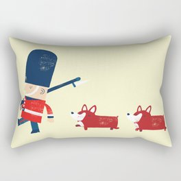 Her Majesty's guards Rectangular Pillow