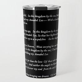 Annabel Lee Edgar Allan Poe black Classic Poem Travel Mug