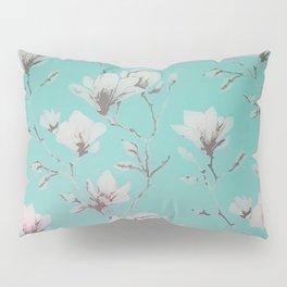 Floral Wallpaper Mint Pillow Sham