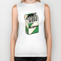 marijuana Biker Tanks featuring Mainstream Marijuana by Kelsey Dake