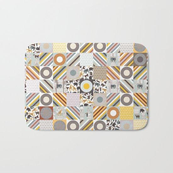 urban jungle squares Bath Mat