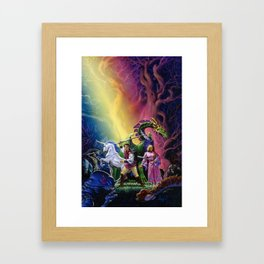Blue Moon Rising Framed Art Print