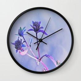 Lilac flower trio Wall Clock