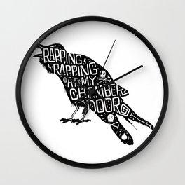 Rapping, Rapping At My Chamber Door Wall Clock
