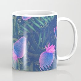 Neon Strawberries in the Night #1 Coffee Mug