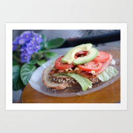BLT w/avocado Art Print