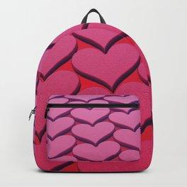 Textured 3D Heart Pattern Backpack