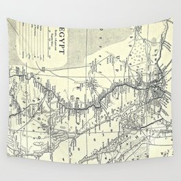 Vintage Map of Egypt (1911) Wall Tapestry