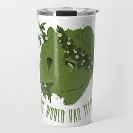 The World Has Teeth: Green Variant Travel Mug