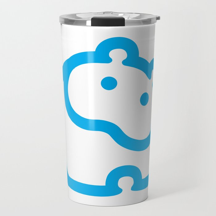Blue hippo Travel Mug