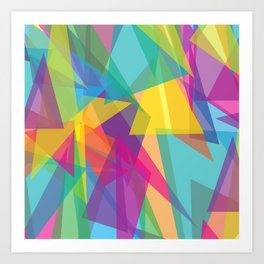 Transparent Triangles Art Print