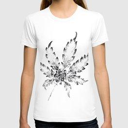 Black & White (Cannabis Resin Leaf) T-shirt
