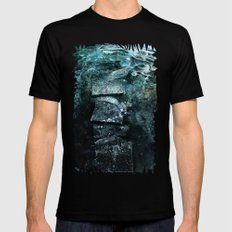 Cold waters Mens Fitted Tee MEDIUM Black