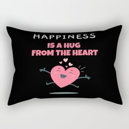 Happiness Is A Hug From The Heart Gift Rectangular Pillow