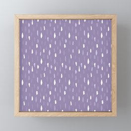 Stains Abstract Ultraviolet Framed Mini Art Print