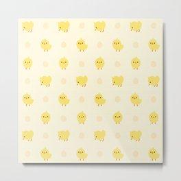 Cute Chicken Pattern Metal Print