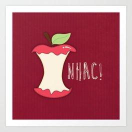 A apple a day... Art Print