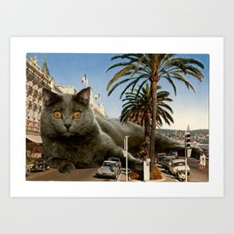 Le Grande Chartreux de Nice Art Print