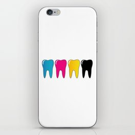 CMYK tooth iPhone Skin