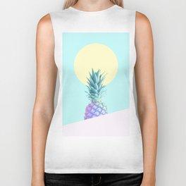Tropical Pineapple Sunkissed #decor #popart #minimalist Biker Tank