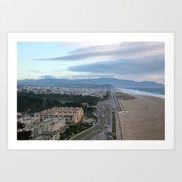 Ocean Side in San Francisco Art Print
