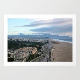 Ocean Side in San Francisco Art Print