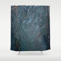 school Shower Curtains featuring School DPG150527a  by Cyndi Steen