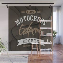 I Live Motocross Extreme Sport Wall Mural