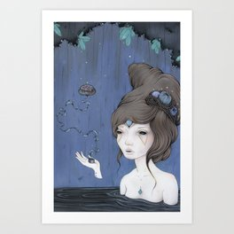 Cave Witch Art Print