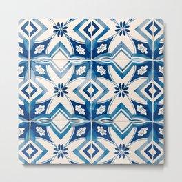 Blue Portugal Tiles #2 Metal Print