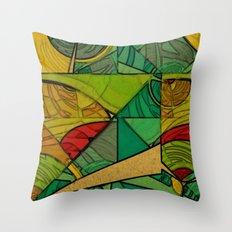 Tropical Farm Throw Pillow