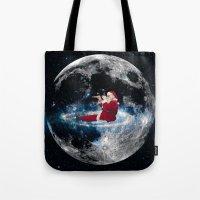 santa Tote Bags featuring Santa by Cs025
