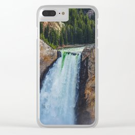 Falls 2, Grand Canyon of the Yellowstone Clear iPhone Case