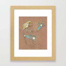 Star Girl Framed Art Print