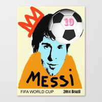 messi Canvas Prints featuring Messi by SNACKONART