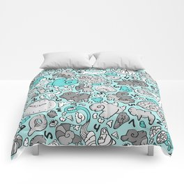 PLAYTIME_BLUE Comforters